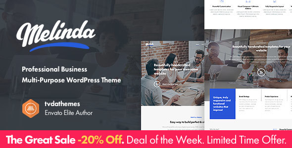 Melinda - Professional Business Multi-Purpose WordPress Theme - Creative WordPress