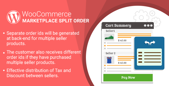 WordPress WooCommerce Marketplace Split Order Plugin - CodeCanyon Item for Sale
