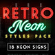 Retro Neon Styles Pack - GraphicRiver Item for Sale