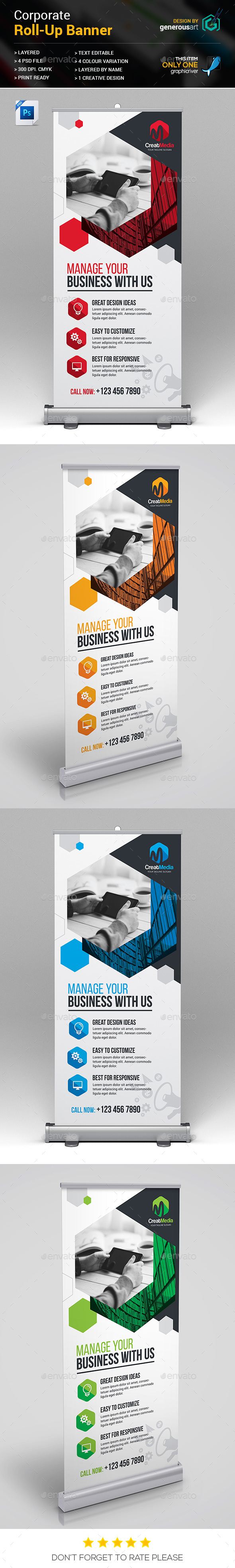 Roll-Up - Signage Print Templates