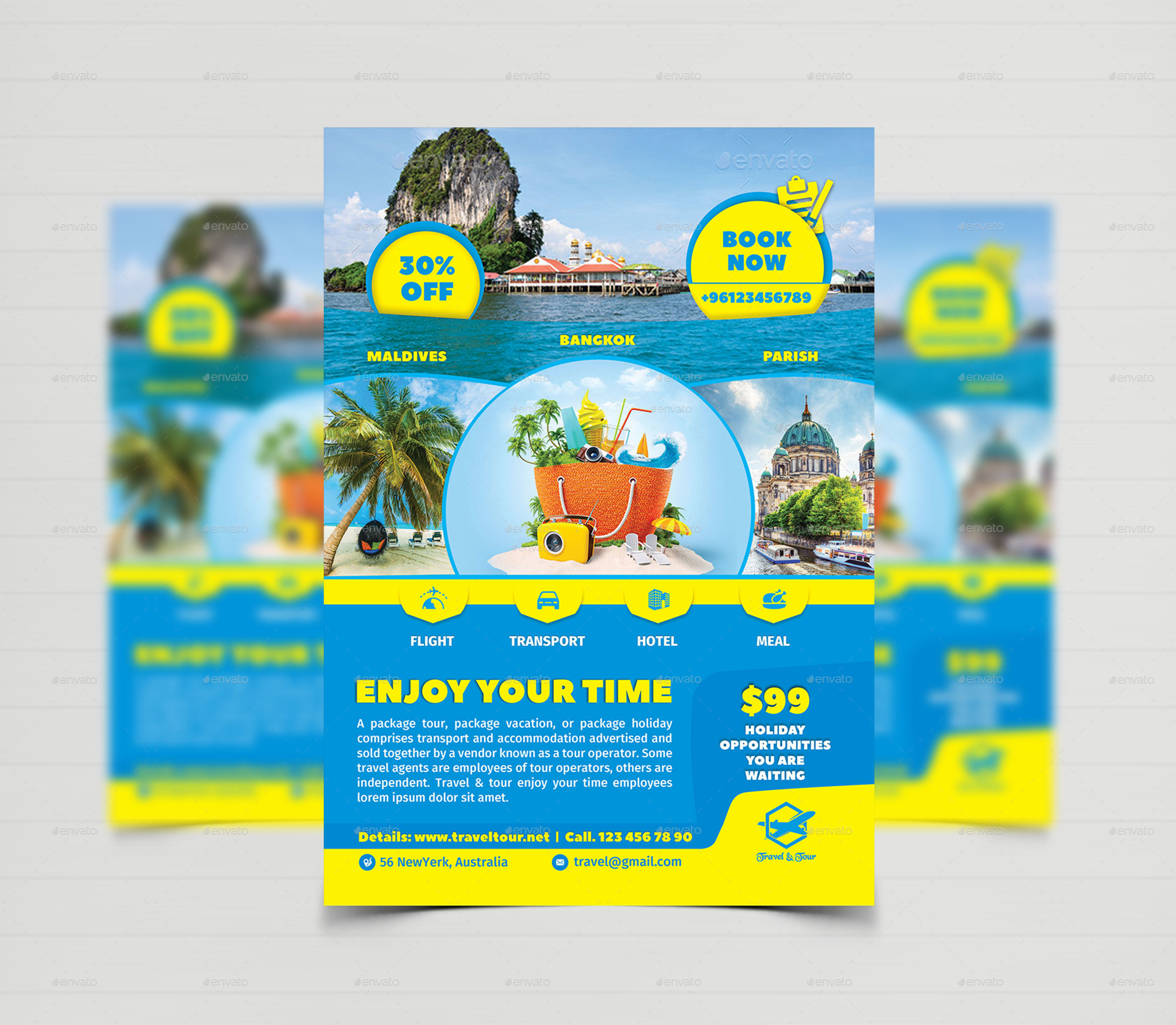 Travel Tour Flyer Templates By CreativeTouch GraphicRiver - Tourism flyer template