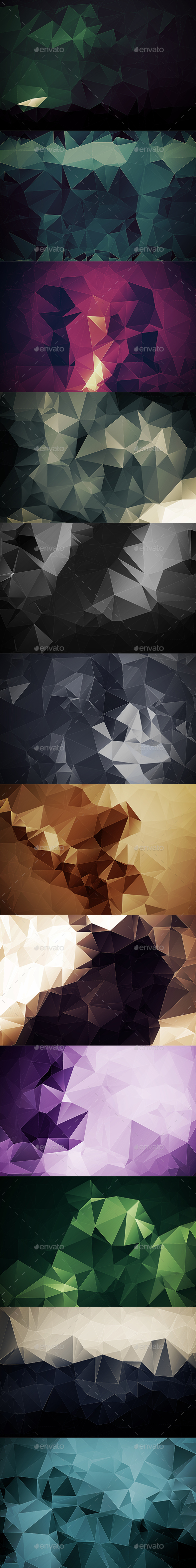 Abstract Polygonal Backgrounds Vol9 - Abstract Backgrounds