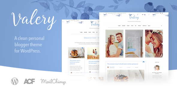Valery CD - A Personal Blog Theme for WordPress - Personal Blog / Magazine