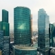 Aerial Shot of Skyscrapers of Moscow International Business Centre.