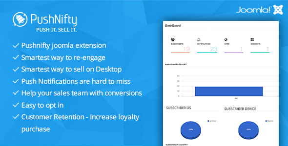 Pushnifty – Push Notification Marketing for Joomla - CodeCanyon Item for Sale