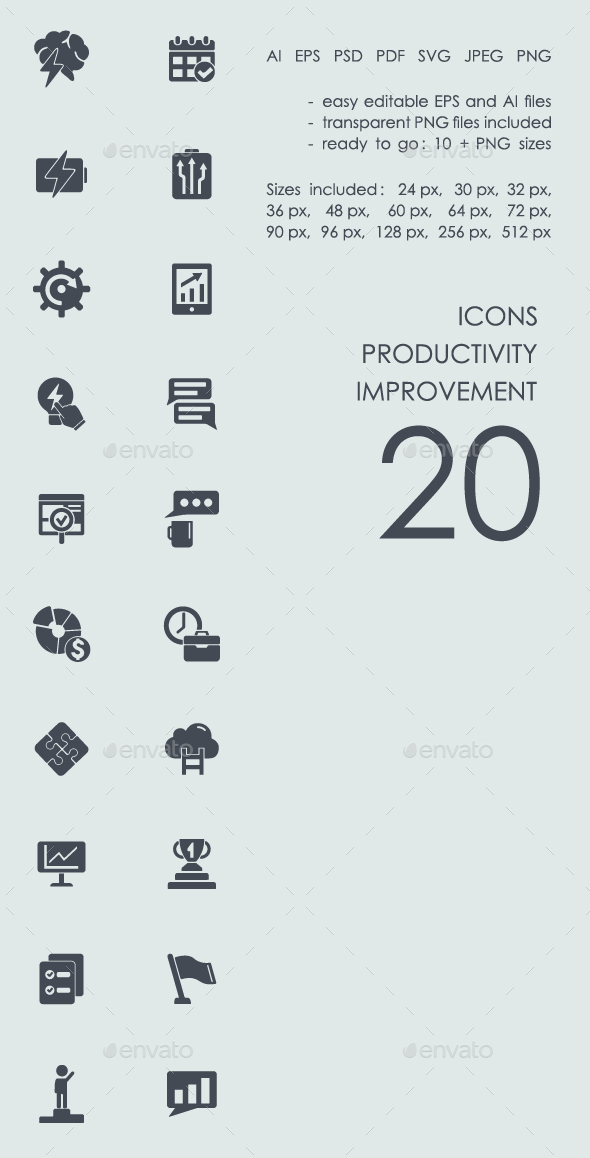 Productivity improvement  icons - Business Icons