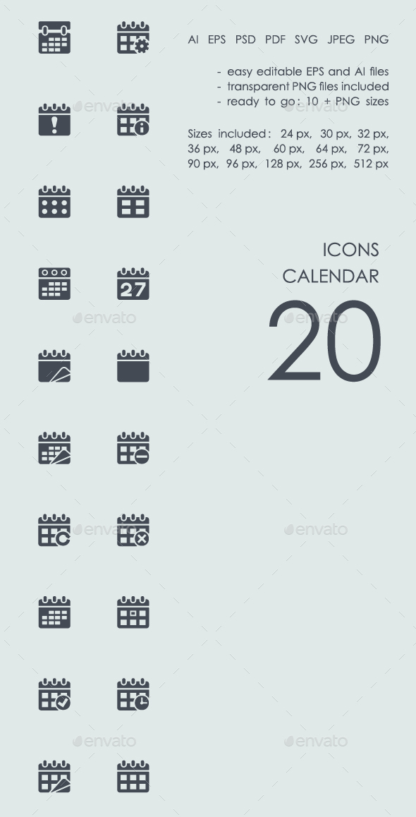 Calendar icons - Business Icons