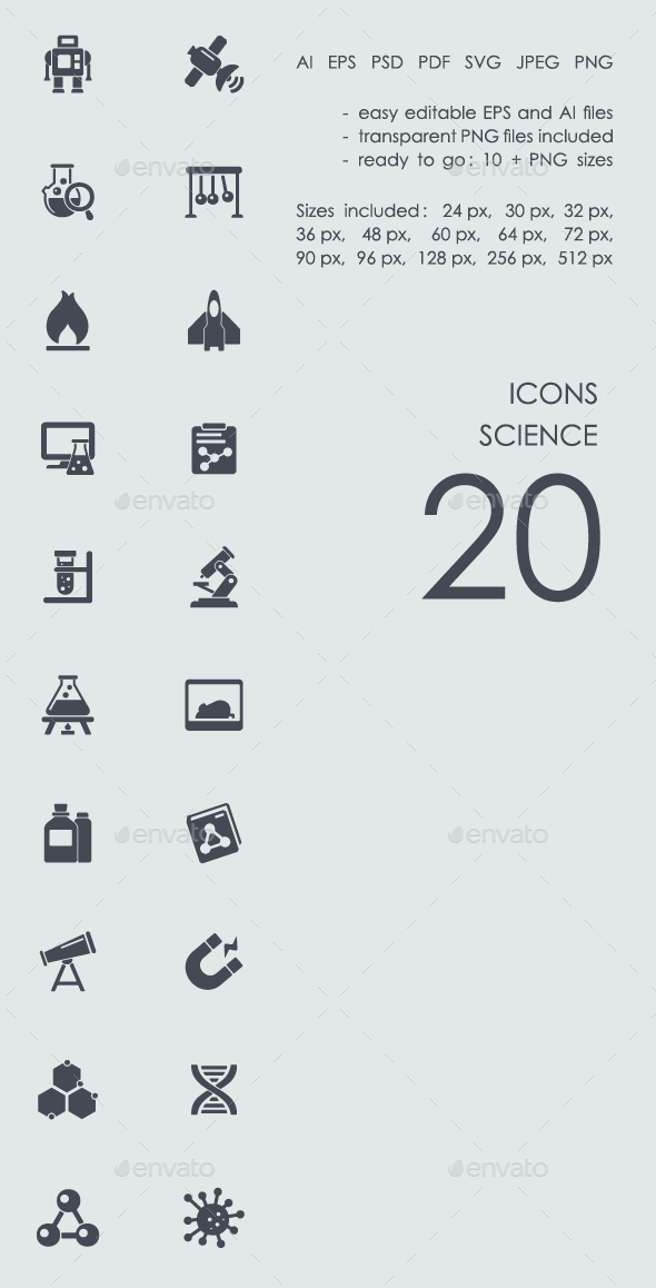 Science icons - Business Icons