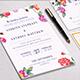Floral Elegant Wedding Invitation Package - GraphicRiver Item for Sale