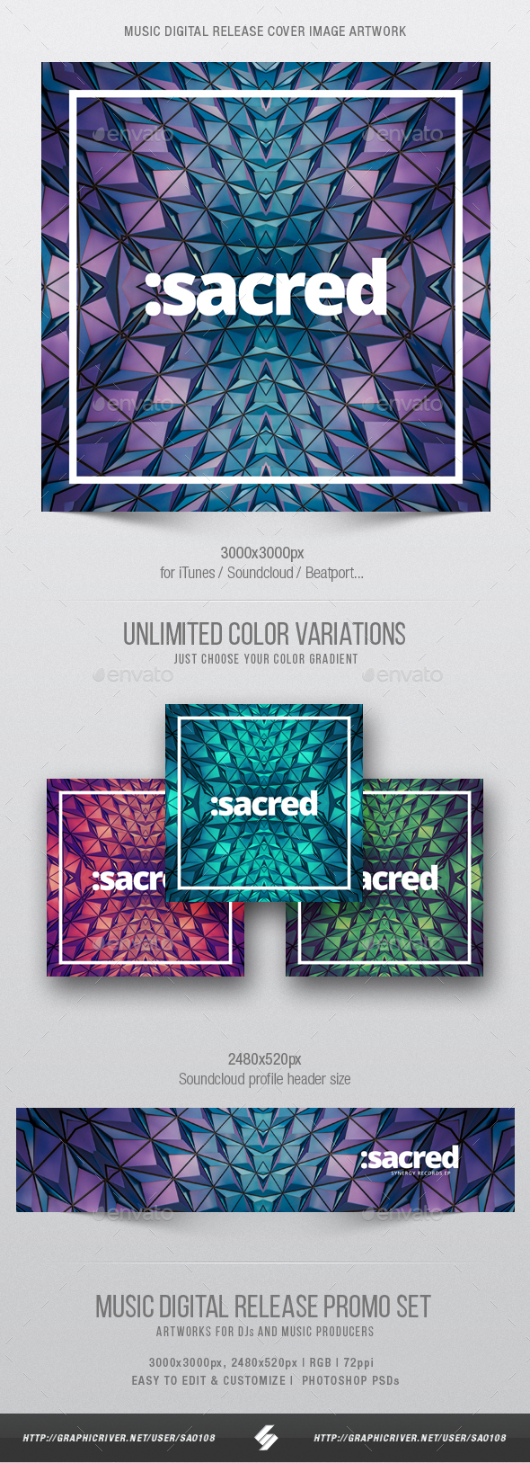 Sacred - Music Cover Image Artwork Template - Miscellaneous Social Media