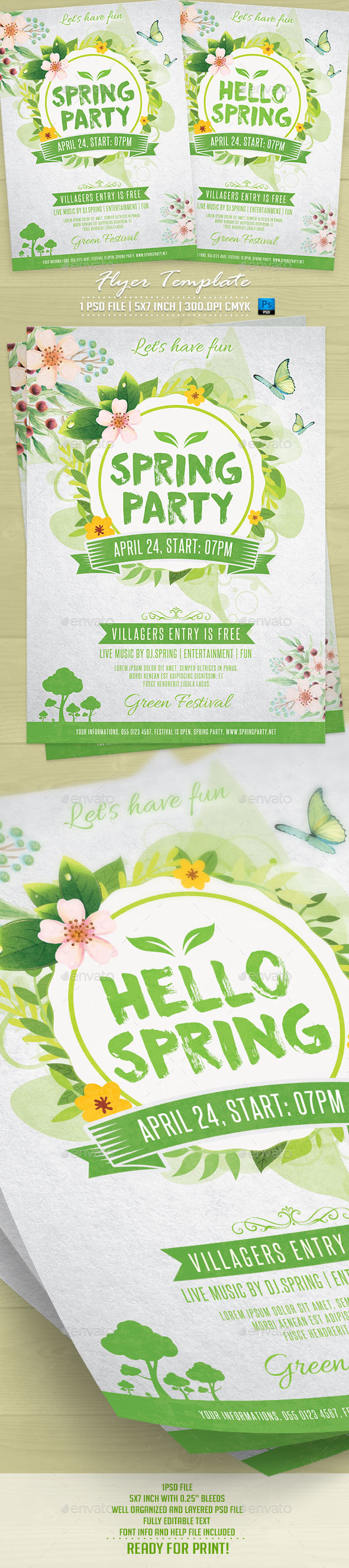Spring Party Flyer Template v2 - Events Flyers