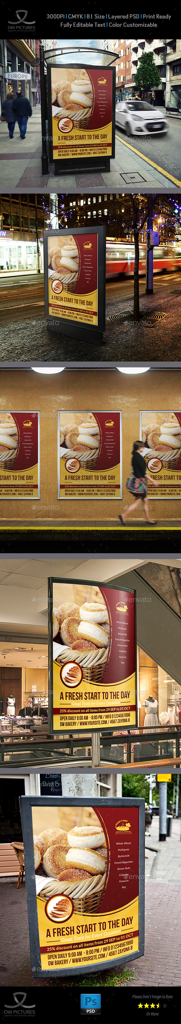 Bakery Poster Template Vol.2 - Signage Print Templates