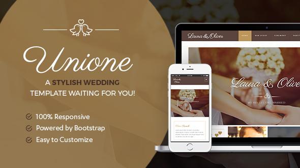 Unione Wedding | A Modern Wedding Template - Wedding Site Templates