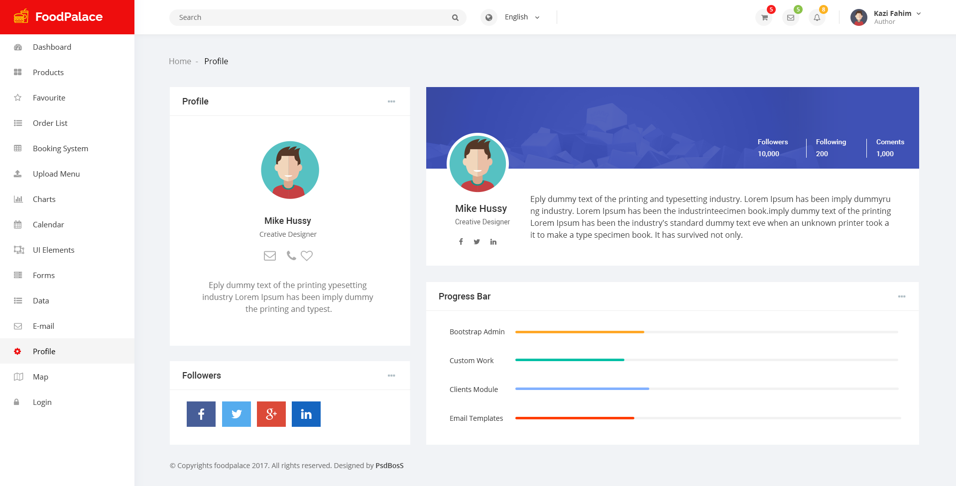 Great Admin Profile Template Images Gallery >> 22 Free Psd Admin ...