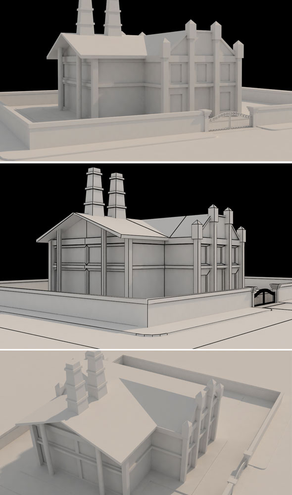 Factory Low Poly Model - 3DOcean Item for Sale