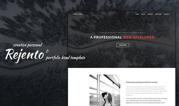 Rejento Personal & Portfolio HTML Template - Portfolio Creative