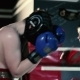 Men Inflict Punches in the Boxing Gloves. - VideoHive Item for Sale