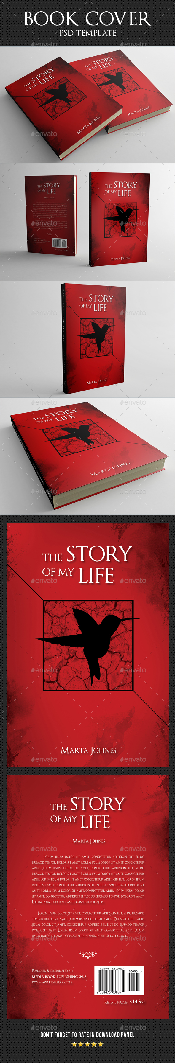 Book Cover Template 29 - Miscellaneous Print Templates
