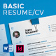 Basic Resume/CV - GraphicRiver Item for Sale
