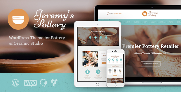 Pottery and Ceramics WordPress Theme - Retail WordPress