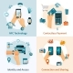 NFC Technology Flat Style Compositions