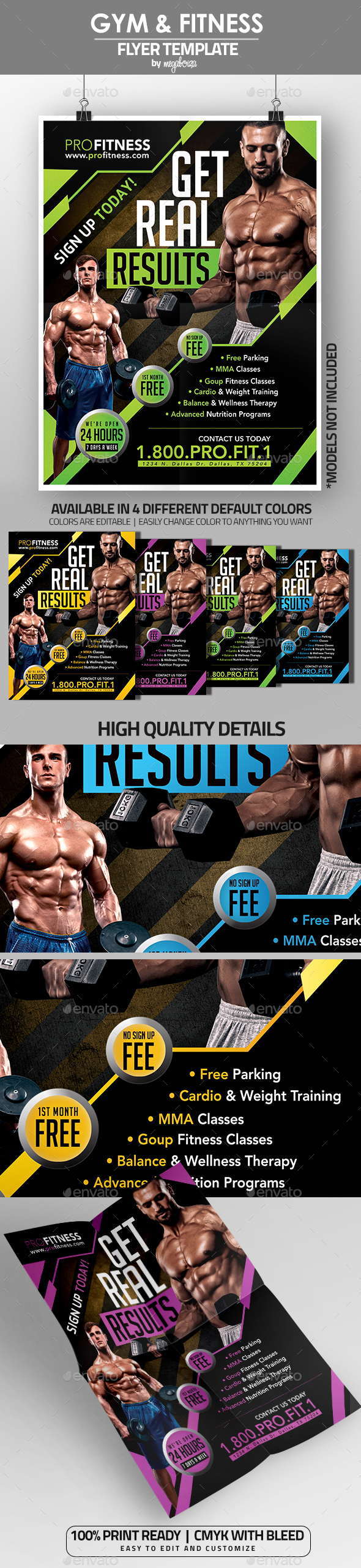 Gym & Fitness Flyer / Poster Template V1 - Sports Events
