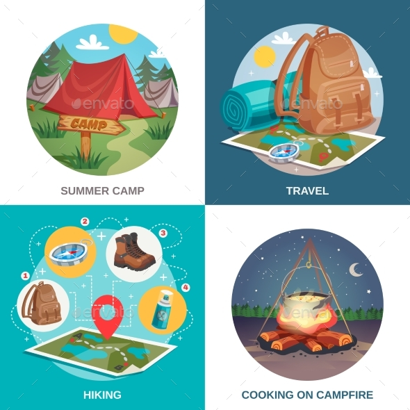Summer Travel Design Concept - Sports/Activity Conceptual