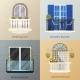 Balcony Design Compositions Set