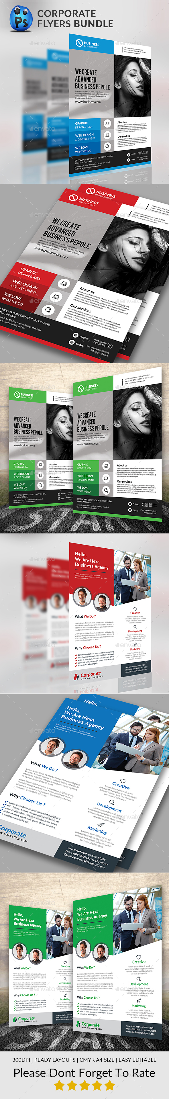 Corporate Flyers Bundle - Corporate Flyers