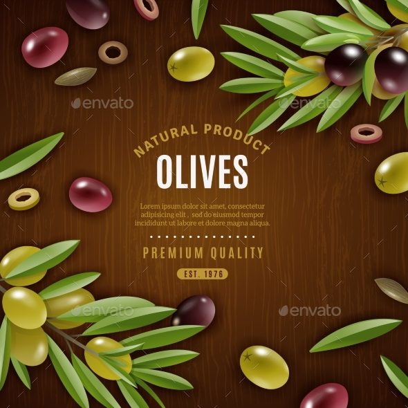 Natural Olives Background - Organic Objects Objects