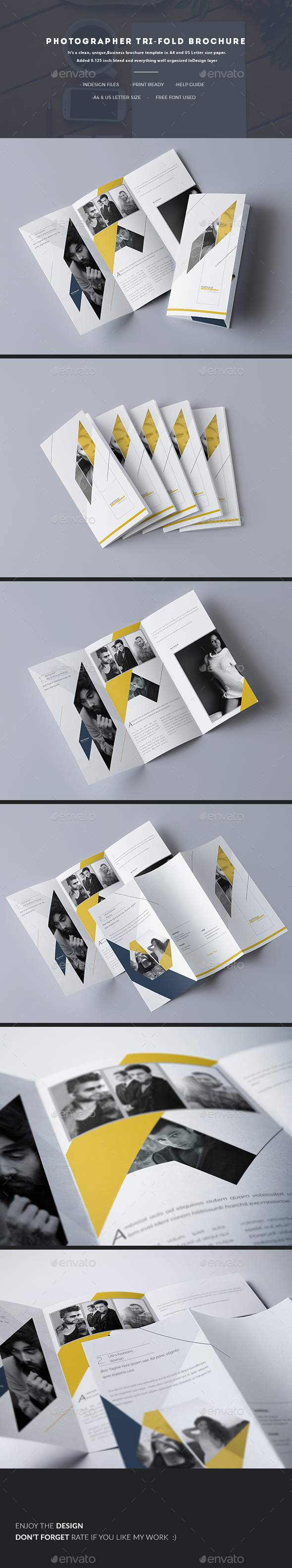 Photographer Tri-fold Brochure - Corporate Brochures
