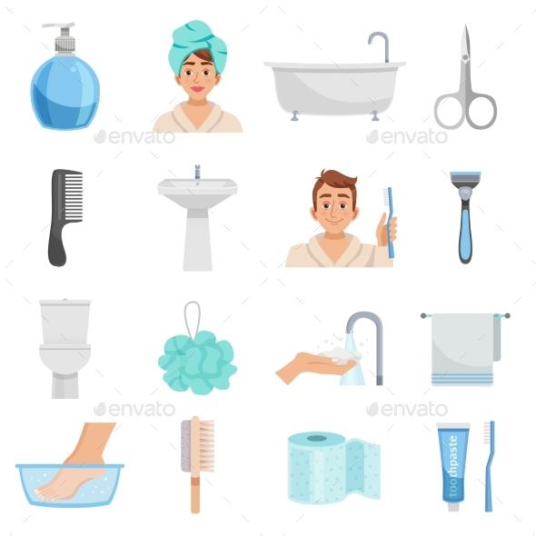 Hygiene Products Icon Set - Miscellaneous Vectors