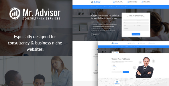 Mr Advisor – Consulting, Business, Finance And Accounting Template