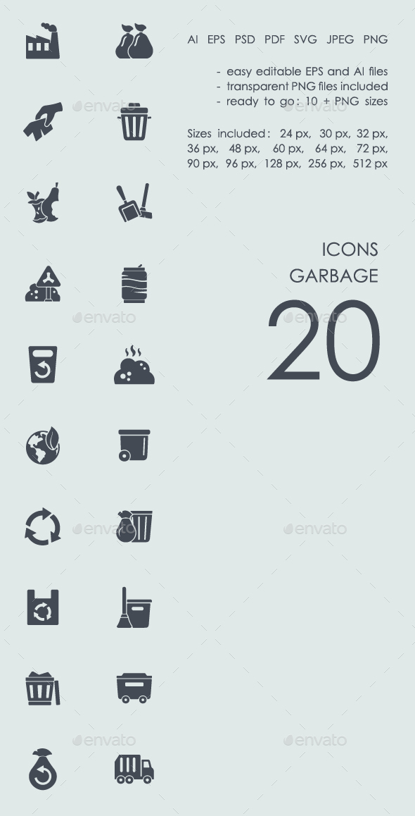 Garbage icons - Abstract Icons