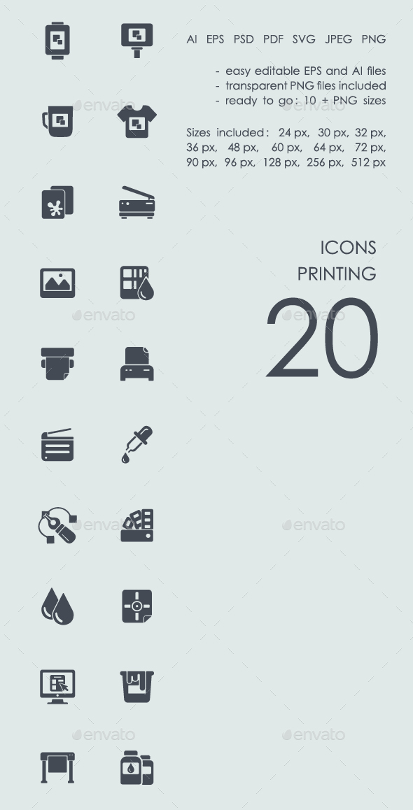 Printing icons - Business Icons