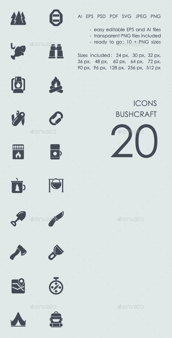 Bushcraft icons - Abstract Icons