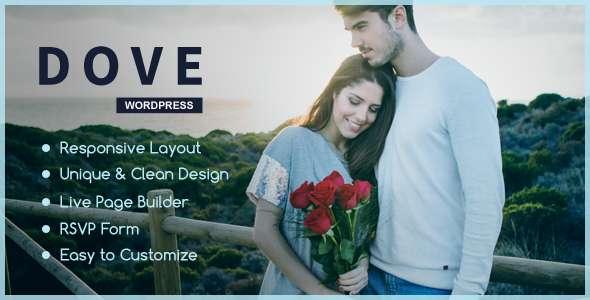 Dove – One Page Wedding WordPress Theme