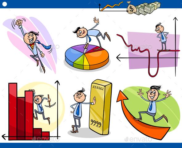 Business Concepts Cartoon Set - Concepts Business