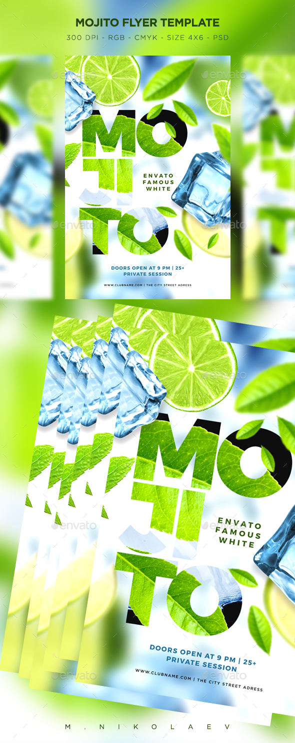 Mojito Flyer - Clubs & Parties Events