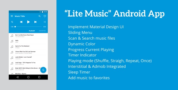 Lite Music 4.2 - Android Music Player - CodeCanyon Item for Sale