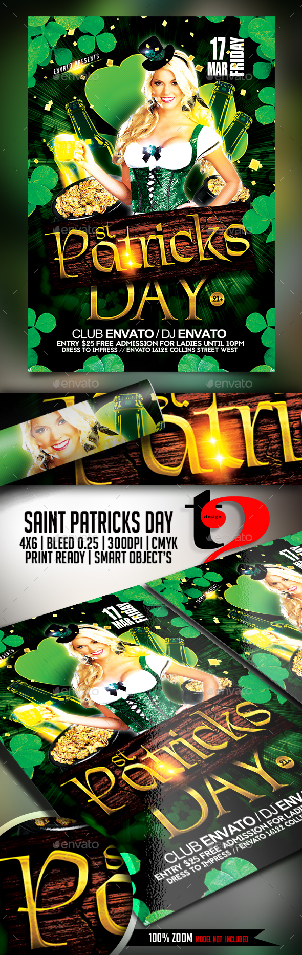 Saint Patricks Day Flyer - Template - Clubs & Parties Events