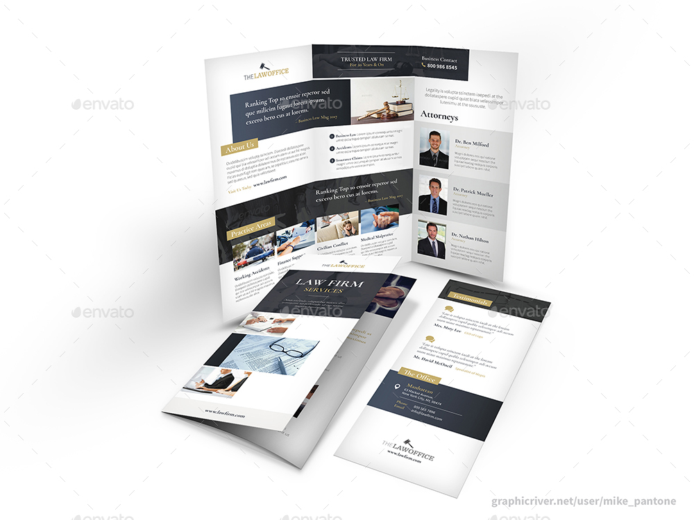 Law Firm Trifold Brochure By Mike_Pantone | Graphicriver