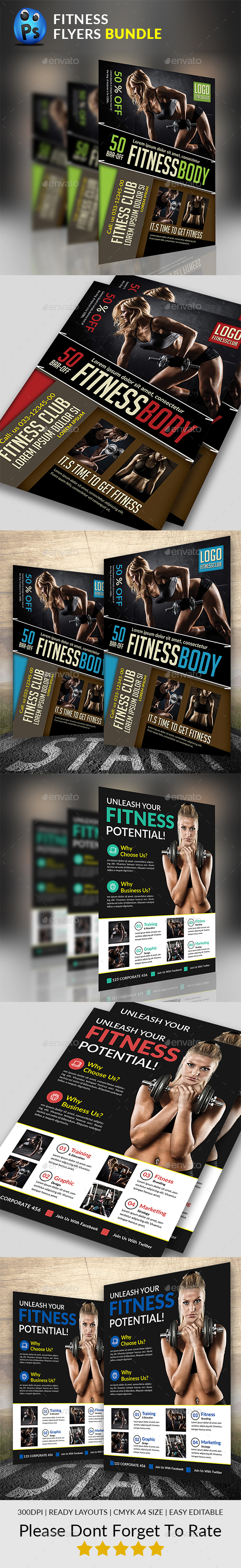Fitness Flyer Bundle - Sports Events