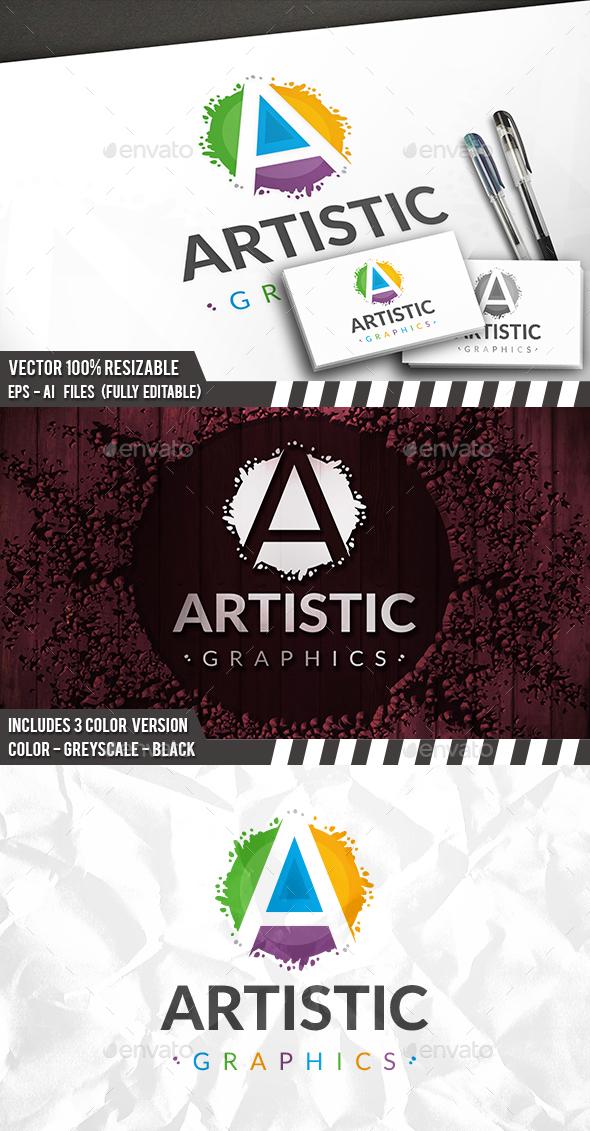 Art A Letter Logo - Letters Logo Templates