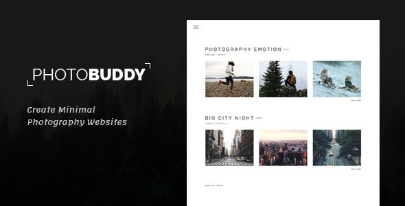 PhotoBuddy – Photography, Portfolio, Gallery, Minimal HTML Template