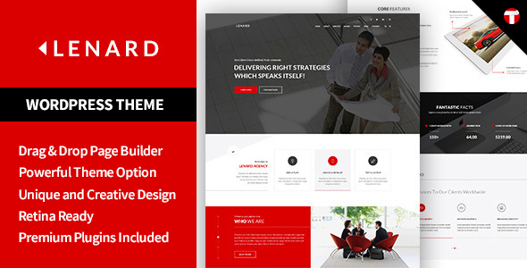 Lenard – Onepage Business Responsive WordPress Theme