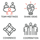 Team Work and Career Training Icons - GraphicRiver Item for Sale