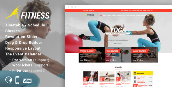 Gym - Fitness WordPress