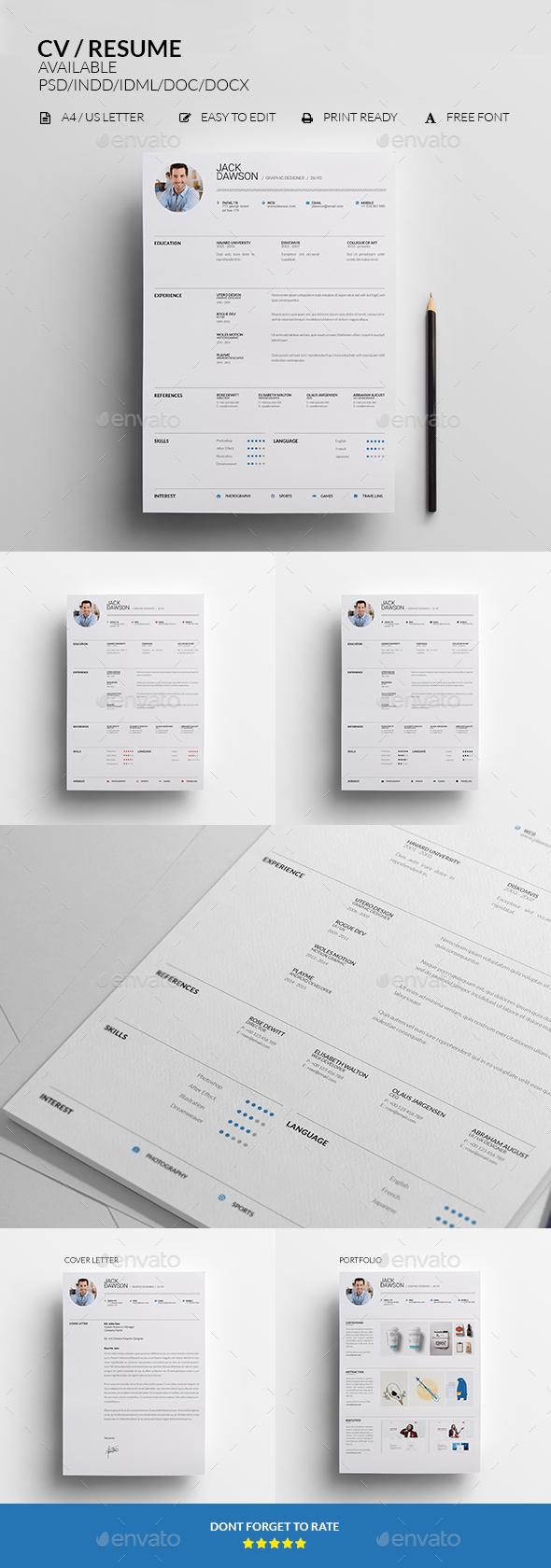 CV / RESUME - Print Templates