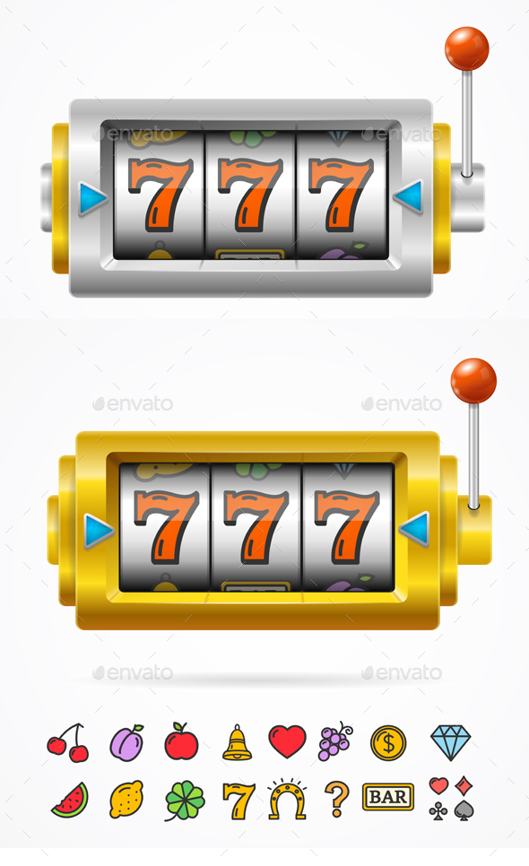 Slot Machine with One Arm Gambling - Miscellaneous Conceptual